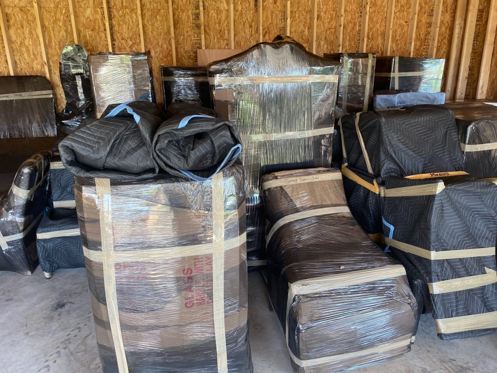 Furniture packed for moving